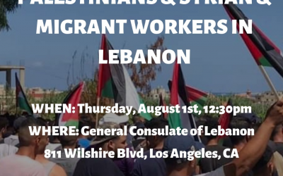 Protest in Solidarity with Striking Palestinian, Syrian, Migrant Workers in Lebanon